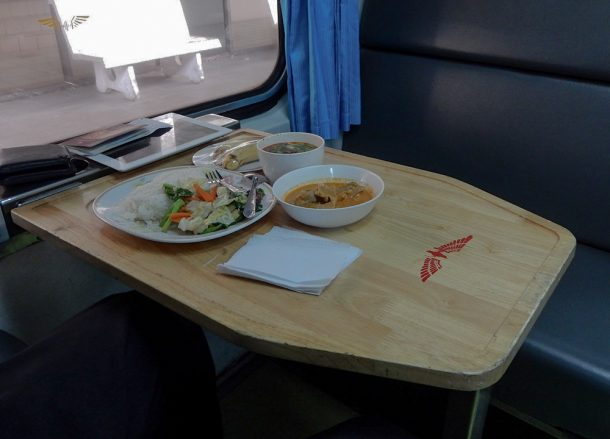 Eating On-Board, Bangkok to Malaysia by Train Padang Besar Penang Butterworth