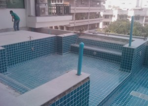 Infinity Pool Construction, Buying a Condo in Bangkok Thailand, Southeast Asia