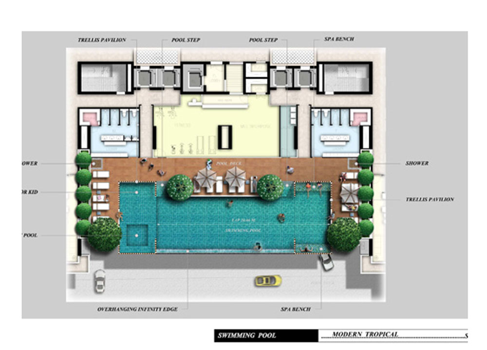 Buying a condo in bangkok thailand foreigners buying for Swimming pool floor plan