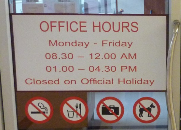 Office Opening Hours for VISA extension in bangkok immigration office