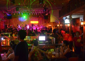 Local Lao Night Club, Vientiane Riverside Night Market Area, Saturday Night