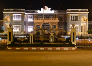 Presidential Palace at Night, Vientiane Riverside Night Market Area, Saturday Night