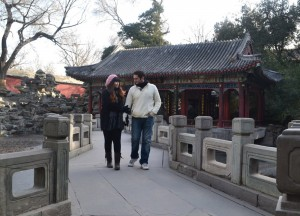 Live Less Ordinary Bloggers Allan and Fanfan in Beihai Park Beijing China