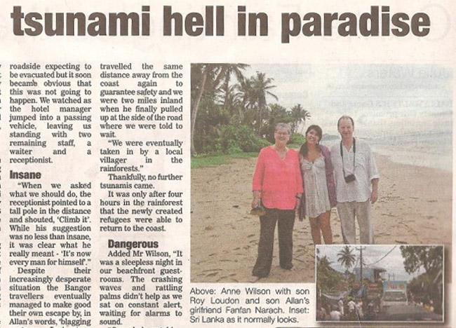 article at tsunami within hindi