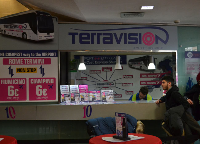 Terravision Café. Is Rome Tourist Friendly. Unfriendly Bad Experiences