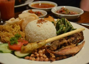 Nasi Campur, Bebek Bengil, Best Restaurants in Ubud Centre, Bali Food