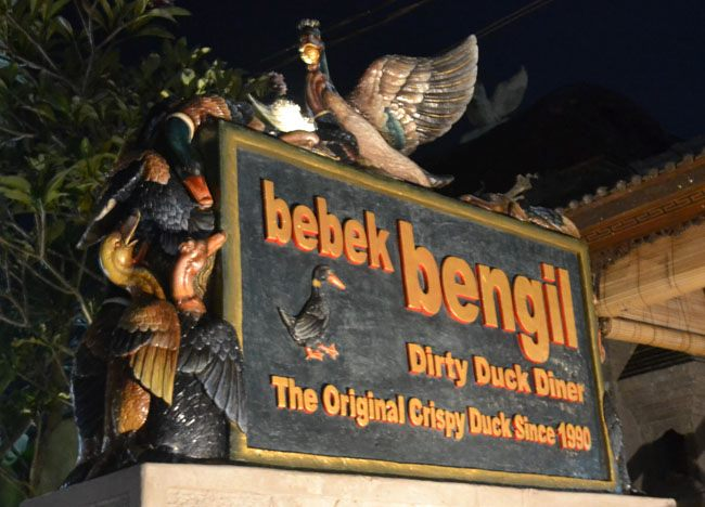Dirty Duck, Bebek Bengil, Best Restaurants in Ubud Centre, Bali Food