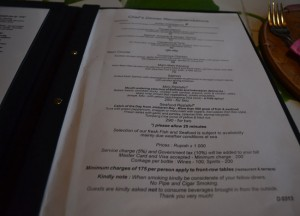 Menu Prices, Cafe Lotus, Best Restaurants in Ubud Centre, Bali Food