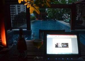 Working from Condo Pool, Moving to Thailand Guide, Lifestyle Design in Bangkok