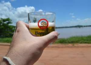 Beer Lao at Mekong River, Top 10 Lao Food, Eating in Laos, Southeast Asia