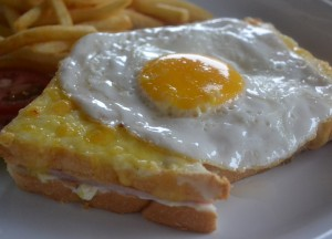 French Food Croque Madame, Top 10 Lao Food, Eating in Laos, Southeast Asia