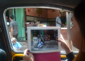 Using Ipad in Taxi, Travel Blogging with Ipad, Tablets, Southeast Asia
