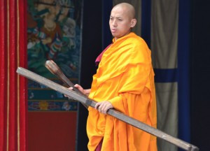 Monk Hitting Sticks, Top Attractions in Sikkim and Gangtok