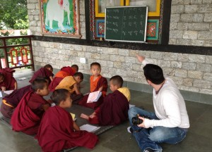 Teaching Young Monks, Gangtok, Sikkim, Travel in Indian Himalayas, Asia