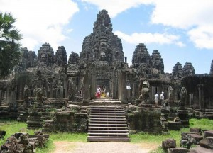 Front of Angkor Thom, Cheapest Thai VISA Runs from Bangkok Thailand