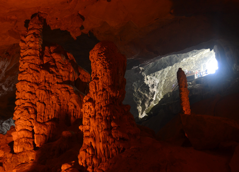 Surprising Cave Entrance, Best Halong Bay Overnight Cruise Tours from Hanoi