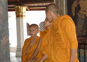 Young Monks (Dek Wat), Buddhist Monk Ordination in Thailand, Nang Rong, Buriram