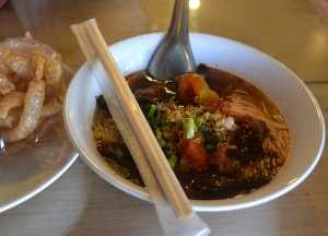 Khanom Jeen Nam Ngiao, Northern Thai Food, Lanna Food, Eating in North Thailand, Asia