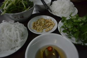 Fish Sauce and Peanuts, Cha Ca La Vong Hanoi, Vietnamese Food Spiced Fish