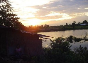 Sunset in Cambodia, Bangkok to Siem Reap, Angkor Wat Tour, Cambodia