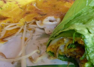 Bahn Xeo Crepe Wrap, Eating in Vietnam, Top 10 Vietnamese Food, SE Asia