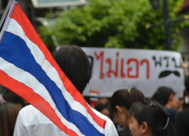 Red White, Blue Thai Flag, Amnesty Bill Protests, Is Bangkok Safe for Travel