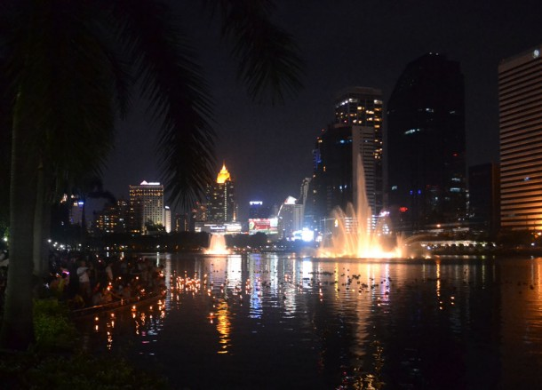 Beautiful Views at Benjakiti Park, Loy Krathong in Bangkok, Sukhumvit Area