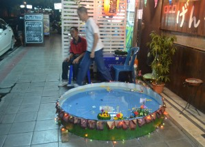 Make Shift Pool to Float Loy Krathong in Bangkok, Sukhumvit Area