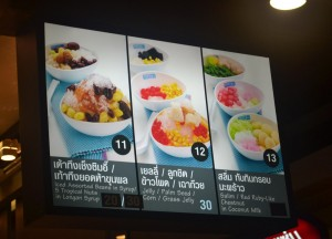 Shaved Ice Desserts, Sweet Thai Desserts in Thailand, Southeast Asia