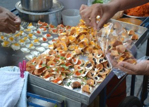 Mini Thai Crepes, Sweet Thai Desserts in Thailand, Southeast Asia