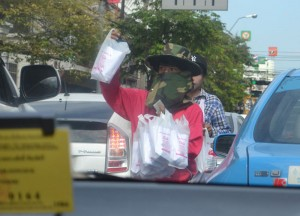 Bangkok Traffic Vendors, Sweet Thai Desserts in Thailand, Southeast Asia