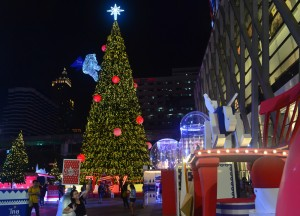 Xmas Tree 2013, Central World Christmas Tree. Beer Gardens. Bangkok