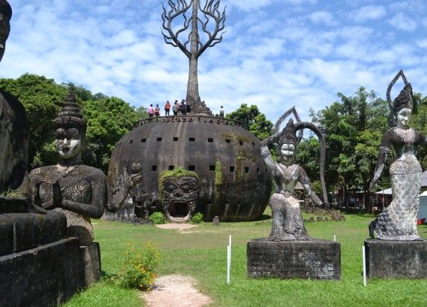 Giant Pumpkin at Buddha Park , Vientiane City Tour, Things to do in Laos