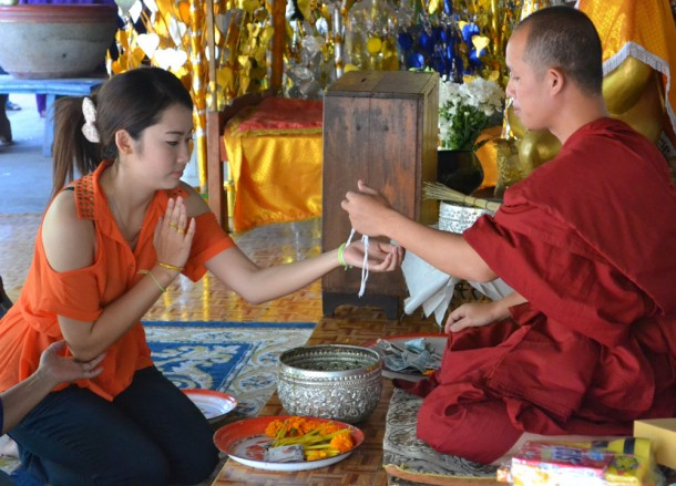 Sai Sin Blessing Wat Si Muang, Vientiane City Tour, Things to do in Laos