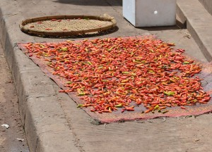 Drying Chilli Peppers, Vientiane City Tour, Things to do in Laos
