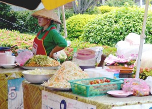 Patuxay Park Vendors, Vientiane City Tour, Things to do in Laos