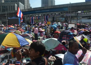 View Towards Skytrain, Simplifying Bangkok Protests, Expat Living in Bangkok