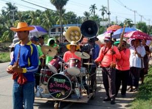 Local Procession Band, Living in Thailand, Nang Rong, Simple life Rural Thailand