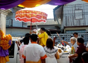 Start of Procession Car, Buddhist Monk Ordination in Thailand, Nang Rong, Buriram