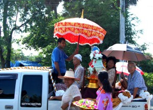 Starting the Procession, Buddhist Monk Ordination in Thailand, Nang Rong, Buriram