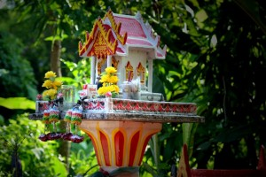 Thai Spirit House, Living in Thailand, Nang Rong, Simple life Rural Thailand