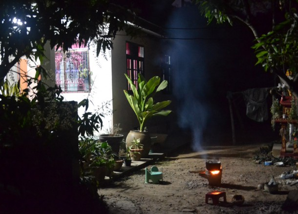 Cooking at Night, Living in Thailand, Nang Rong, Simple life Rural Thailand