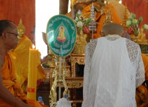 Inside Wat Hua Saphan, Buddhist Monk Ordination in Thailand, Nang Rong, Buriram