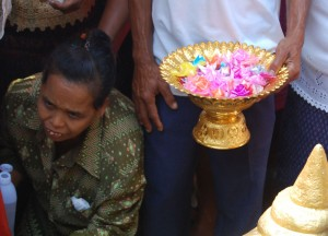 Container of Ribbon Coins, Buddhist Monk Ordination in Thailand, Nang Rong, Buriram