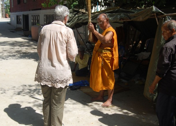 Blessed by Monk, Buddhist Monk Ordination in Thailand, Nang Rong, Buriram