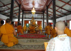 Joining the Temple, Buddhist Monk Ordination in Thailand, Nang Rong, Buriram