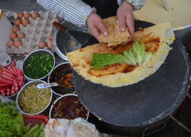 Chinese Crepe Breakfast, Top 10 Chinese Street Food in China, Xian