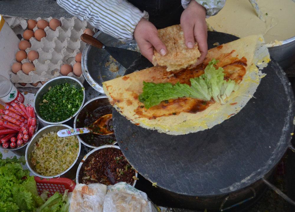 Chinese Street Food Crepe