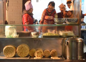 Roadside Pitta Shops, Xian Food and Eating in Xian, Shaanxi, China