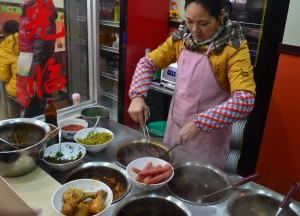 Roadside Noodle Shop, Xian Food and Eating in Xian, Shaanxi, China